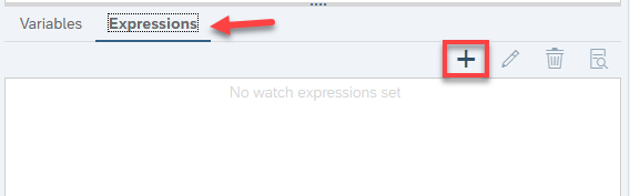 toggle expression editor