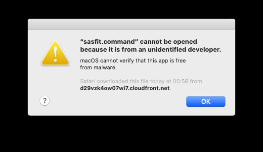 sasfit.command error on macOS