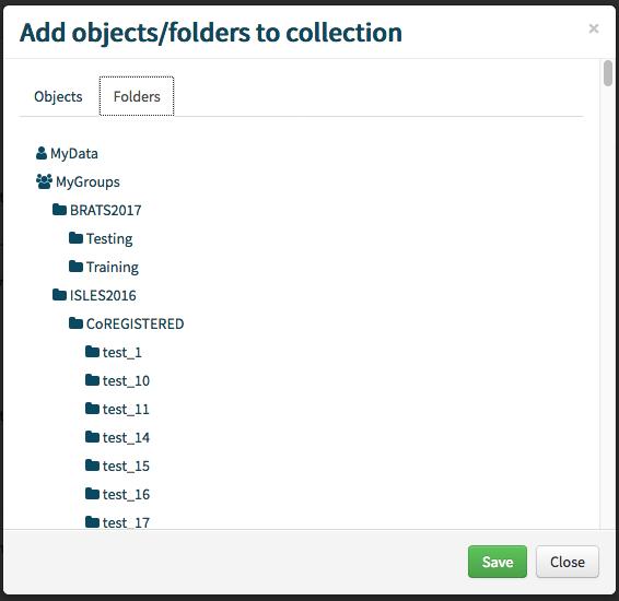 Add folder modal