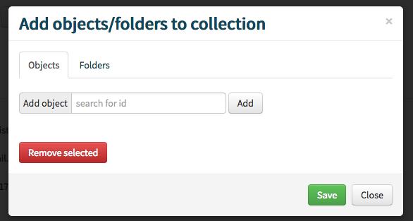 add objects modal