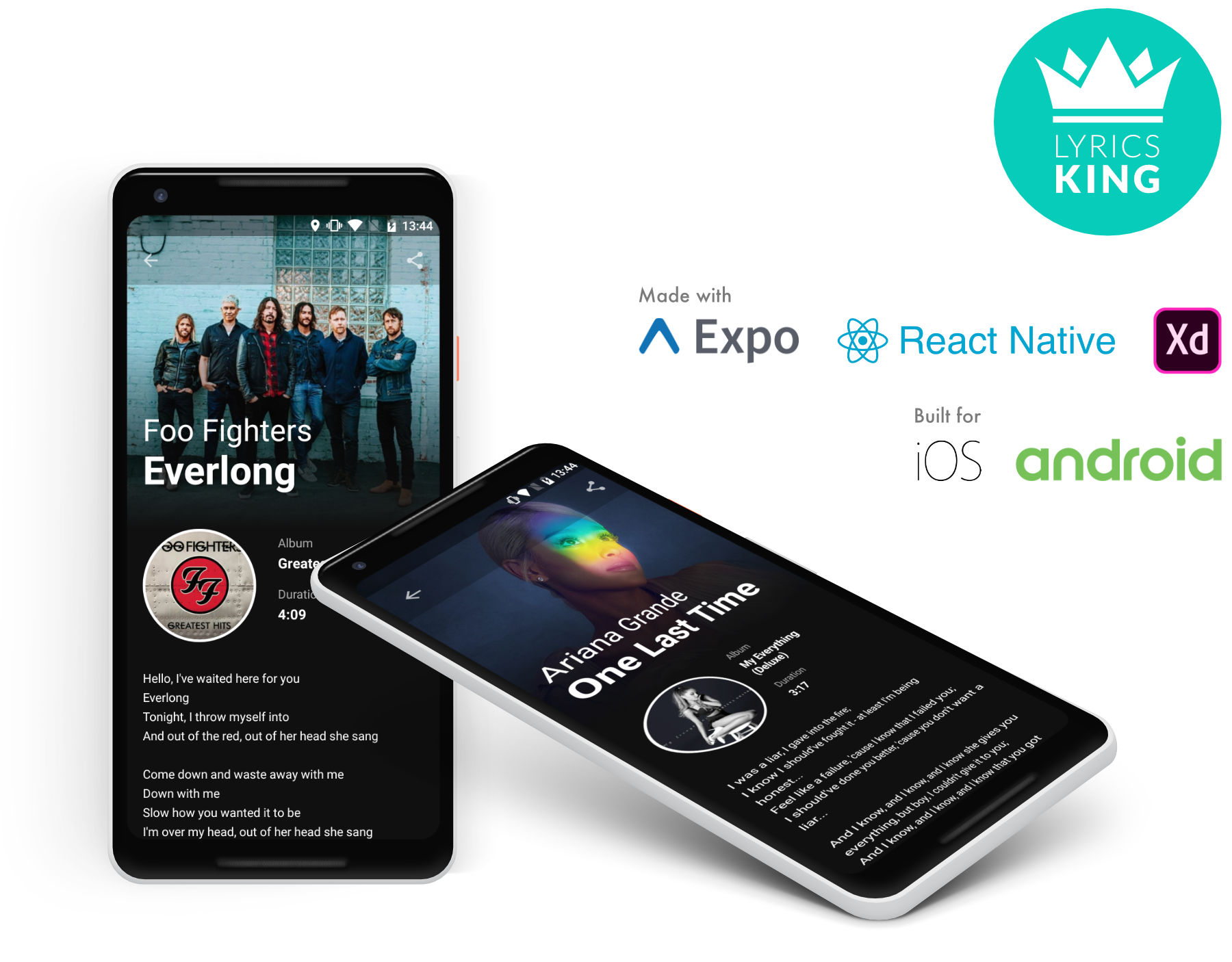 Lyrics King - React Native Expo app