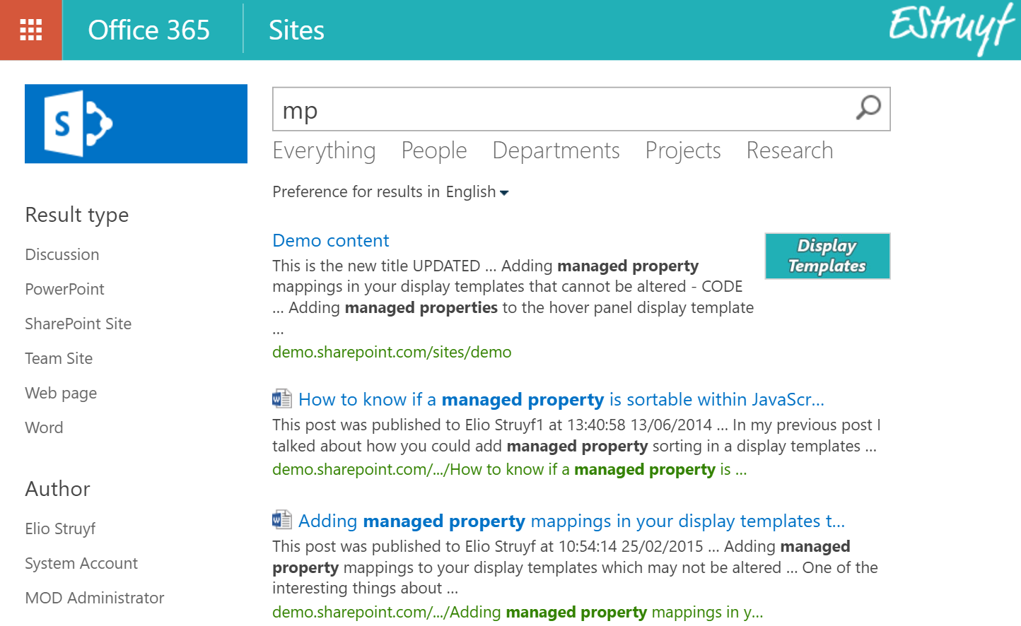 MP Search Query