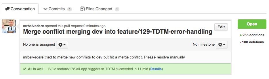 GitHub Commit Status Passing