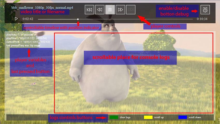 HbbPlayer debug UI
