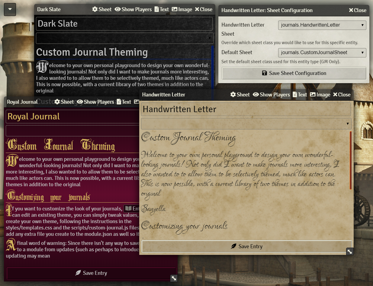 Custom Journal Preview