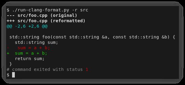 run-clang-format example