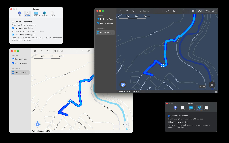 LocationSimulator screenshot