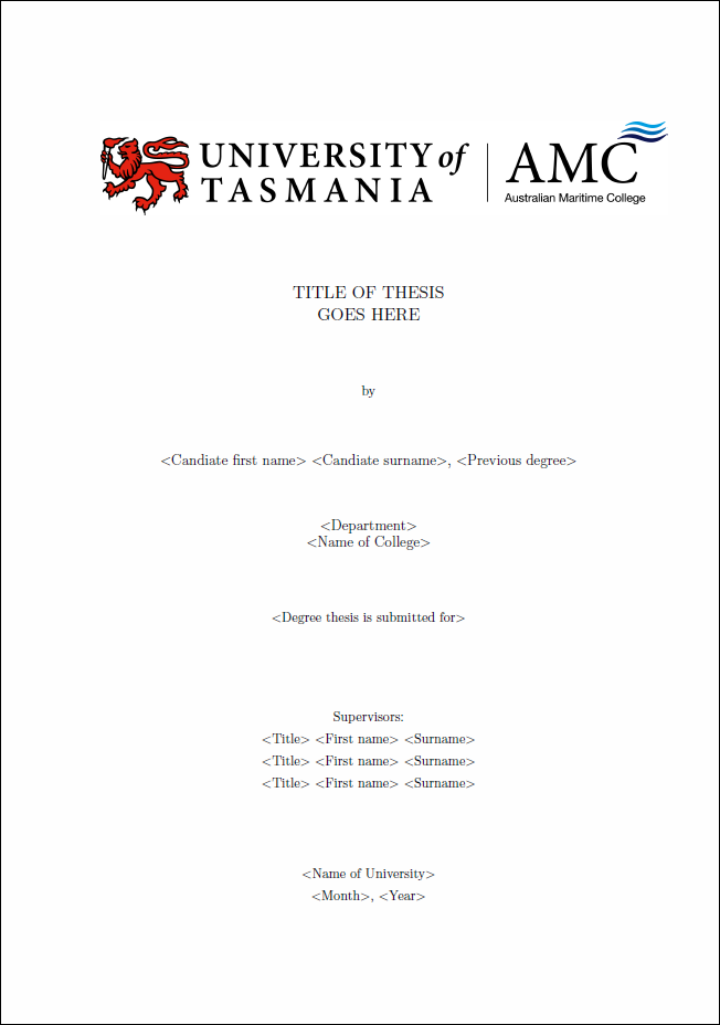 utas thesis submission