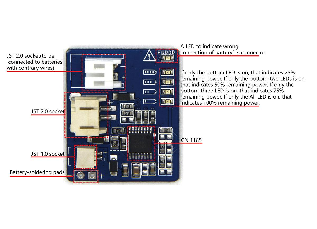 Battery Detector With Polymer Lithium Ion 1050mah 37v Single Cell Voltage Monitor Circuit Diagram Cn1185 A Monitoring