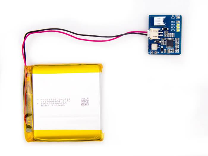 Battery Detector With Polymer Lithium Ion 5100mah 3 8v