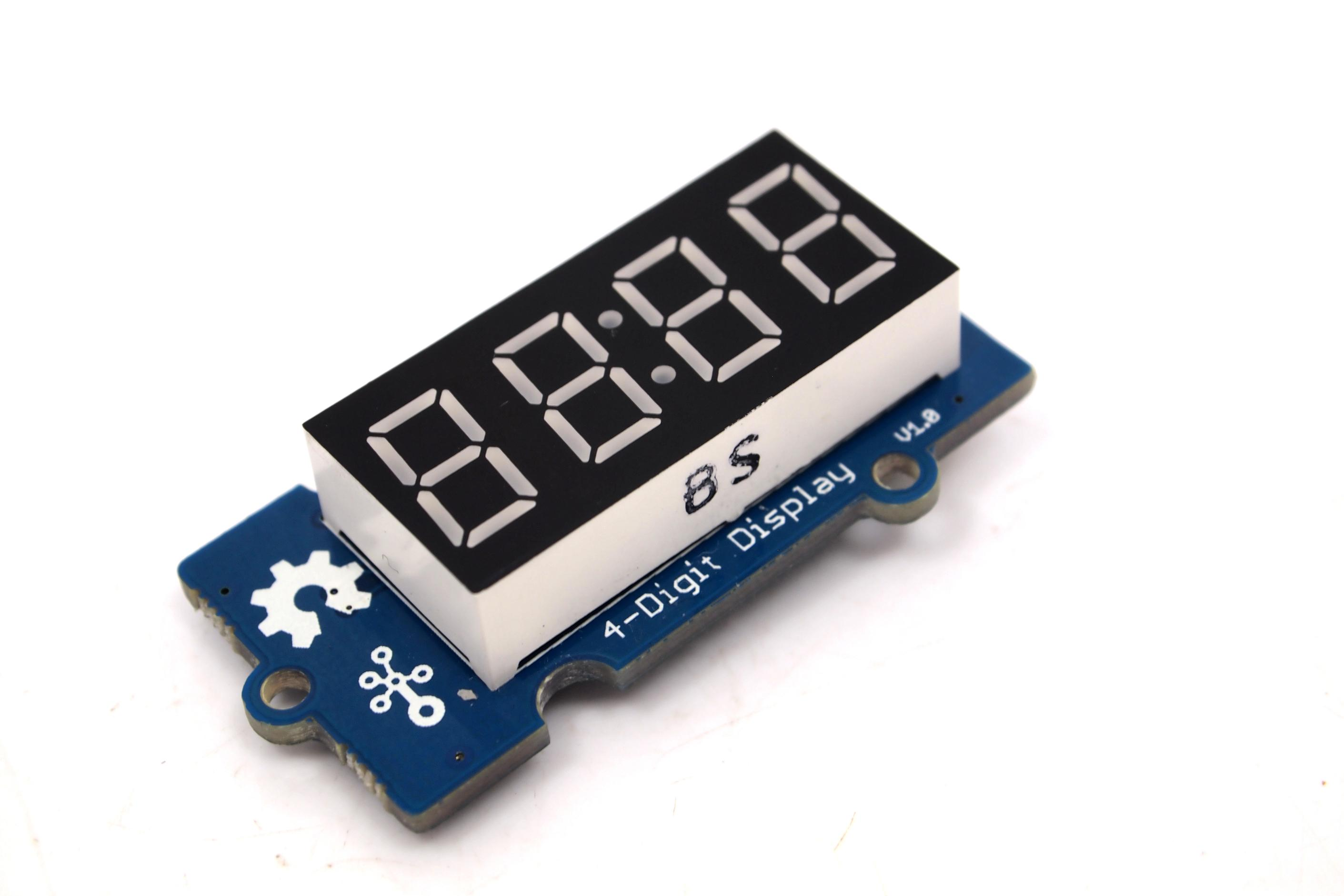 Grove 4 Digit Display Seven Segment Led System