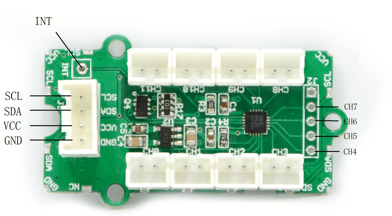 Grove I2c Touch Sensor Passive Infra Red Pir Pinouts Datasheet Application Note Hardware Overview