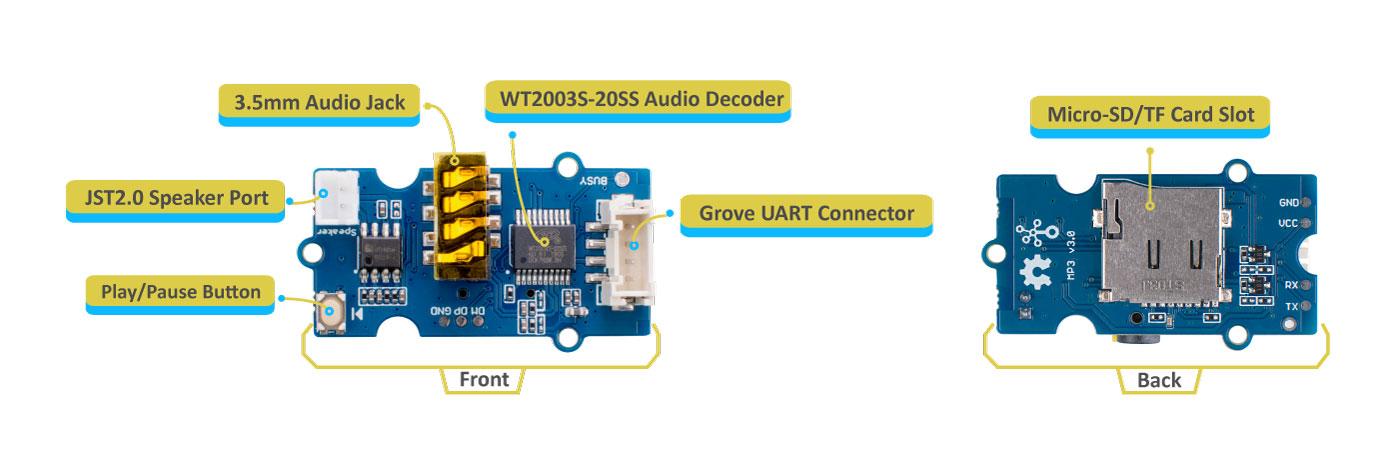 Grove MP3 hardware