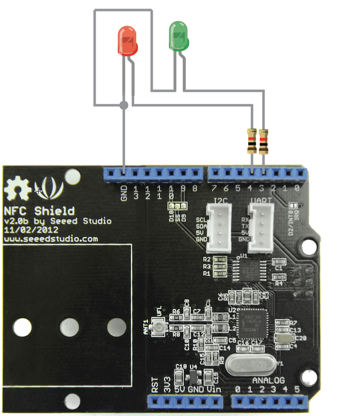 Example 2 red green led nfc alarm real nfc shield v2 0 seeed wiki seed studio relay shield wire diagram at soozxer.org