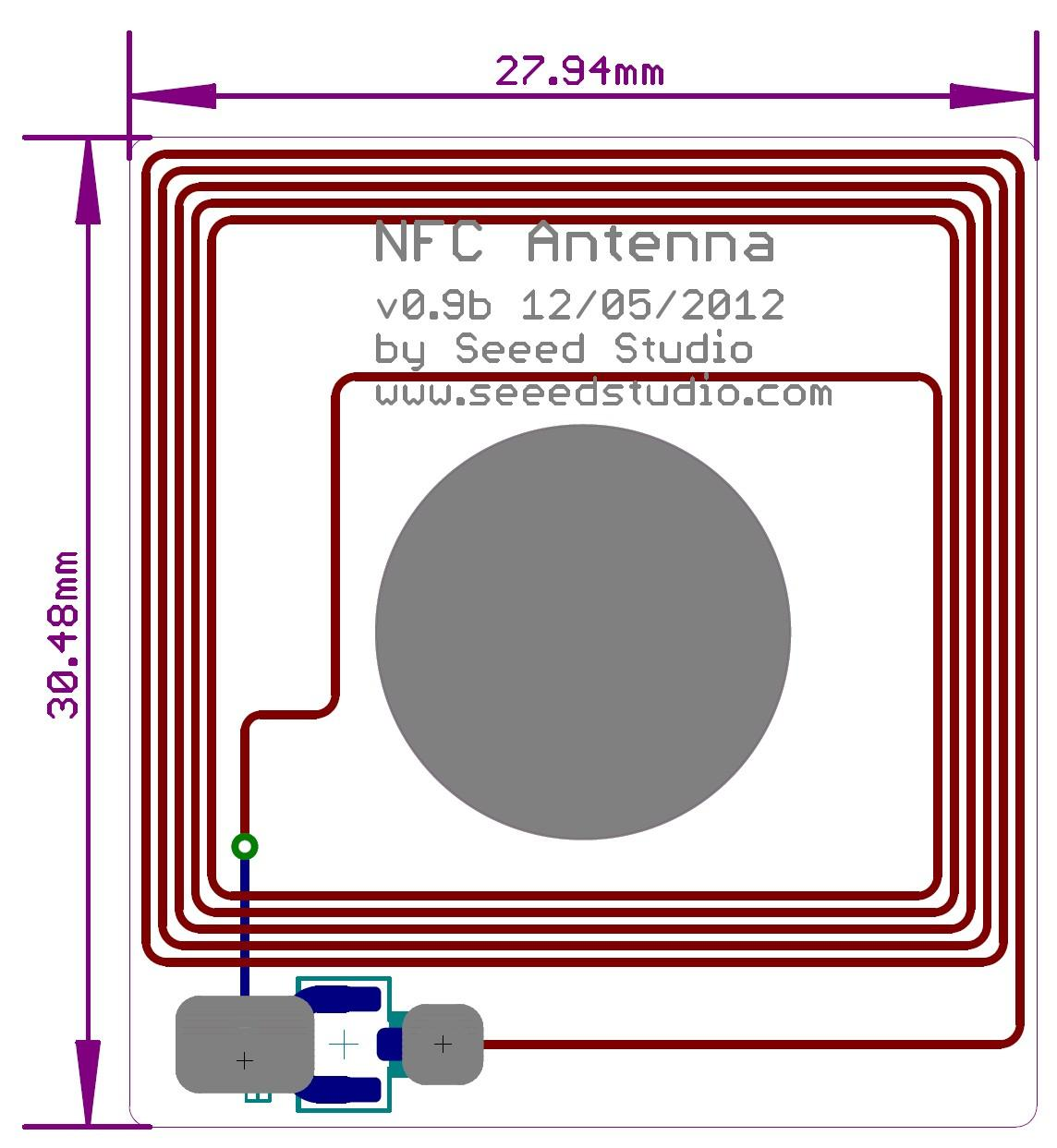 Nfc Shield V20 Generated Using Eagle Schematic Software The Formatted Hardware Overview