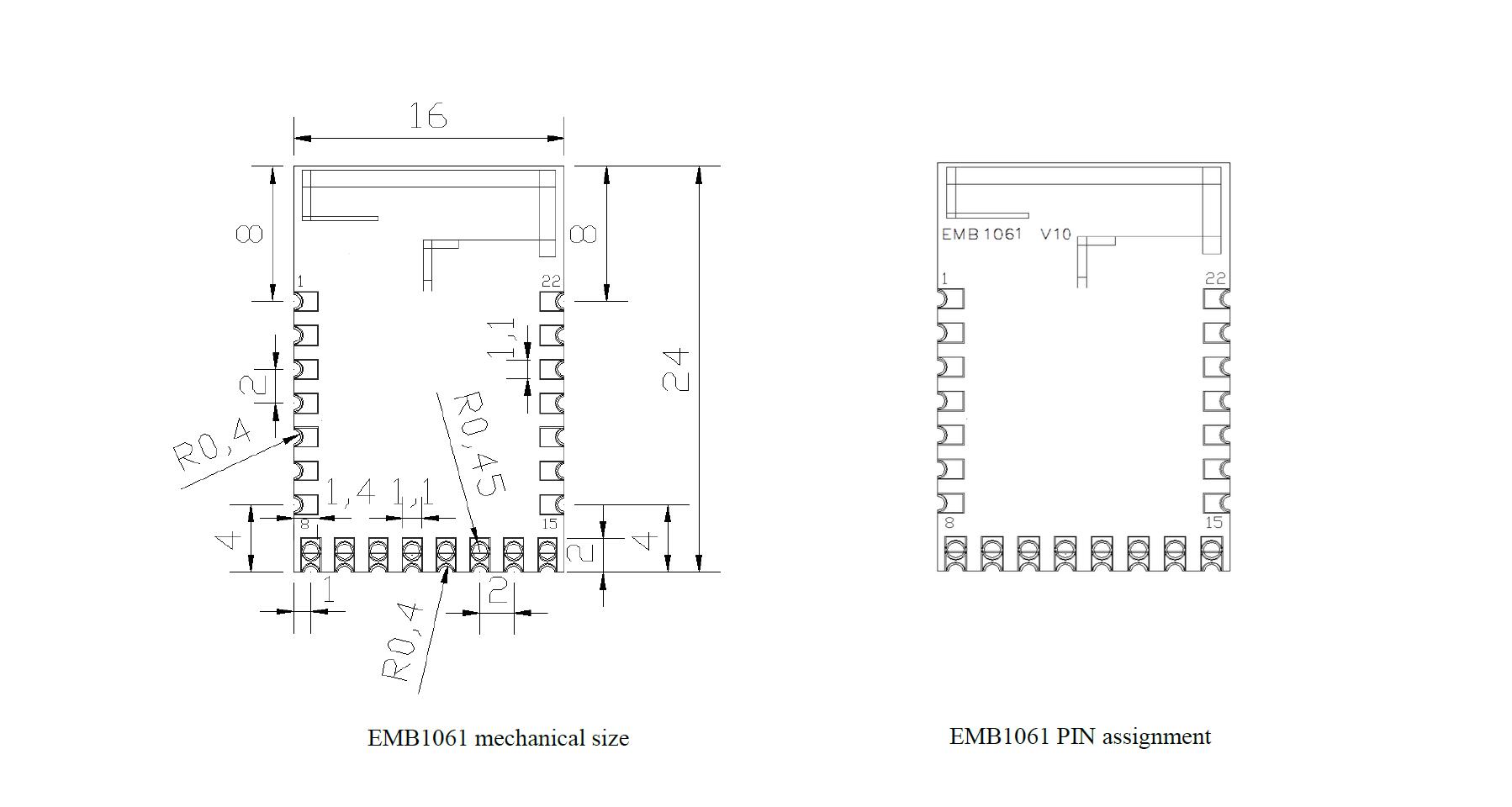 EMB1061 pin