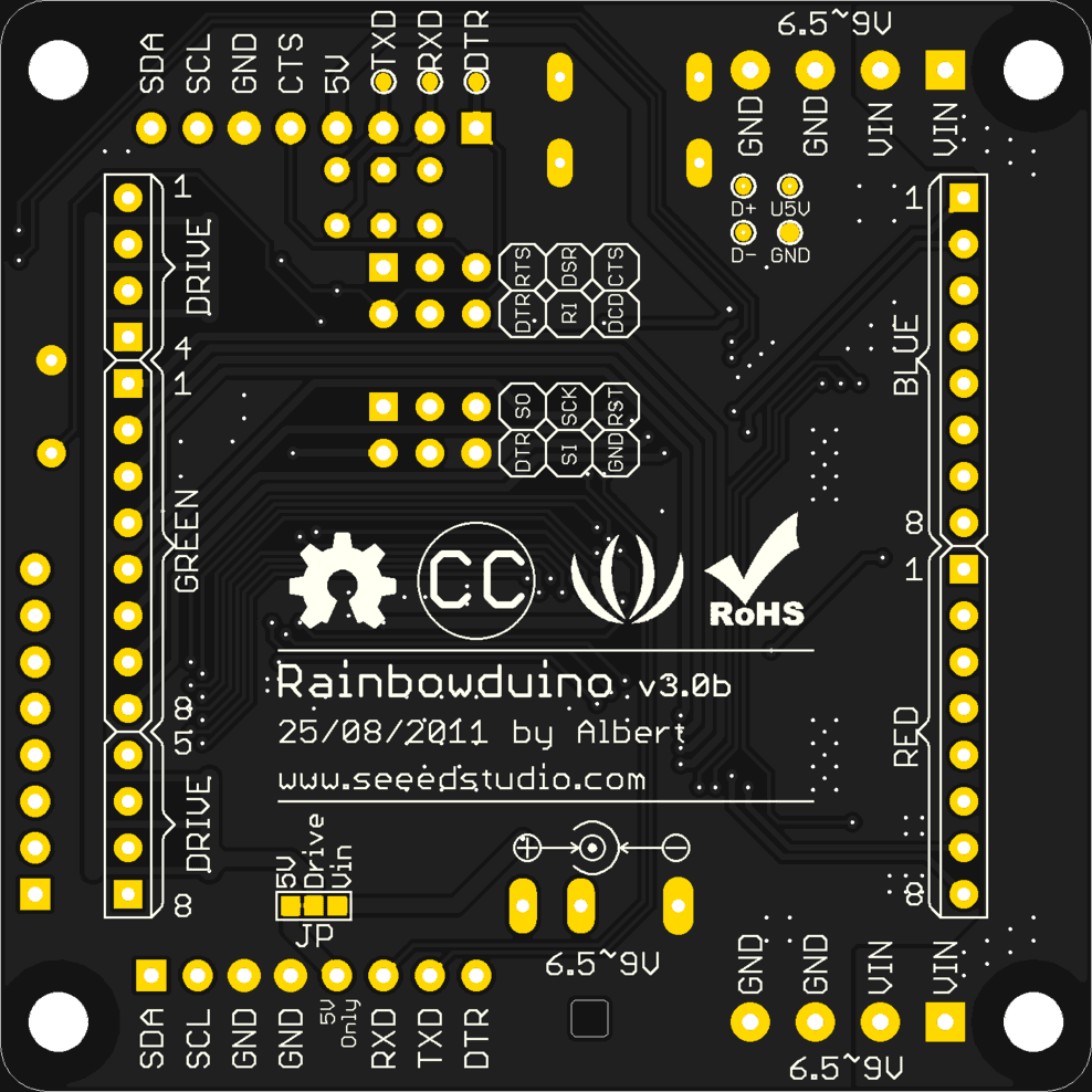Rainbowduino V30 Atmel Avr Minimus Based Timer And Solid State Relay Control For Uv Bottom