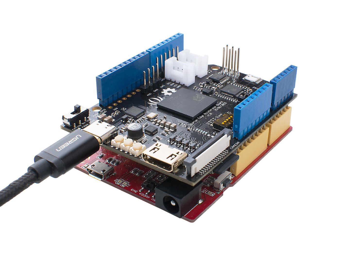 Spartan Edge Accelerator Board Work with Arduino
