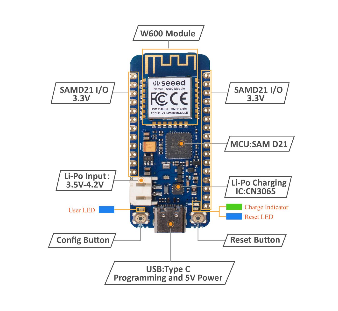 Wio Lite W600 hardware