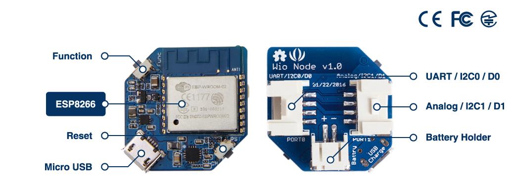 Wio Node connectors