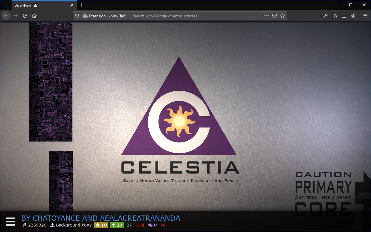 Derpi-New Tab Firefox Screenshot