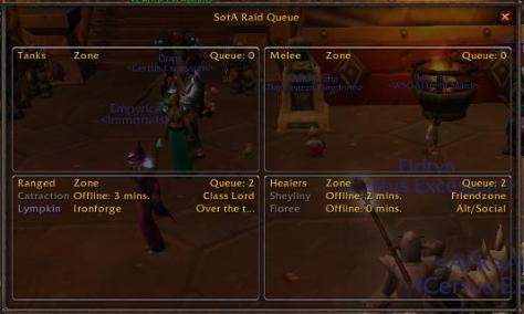 SOTA Raid queue