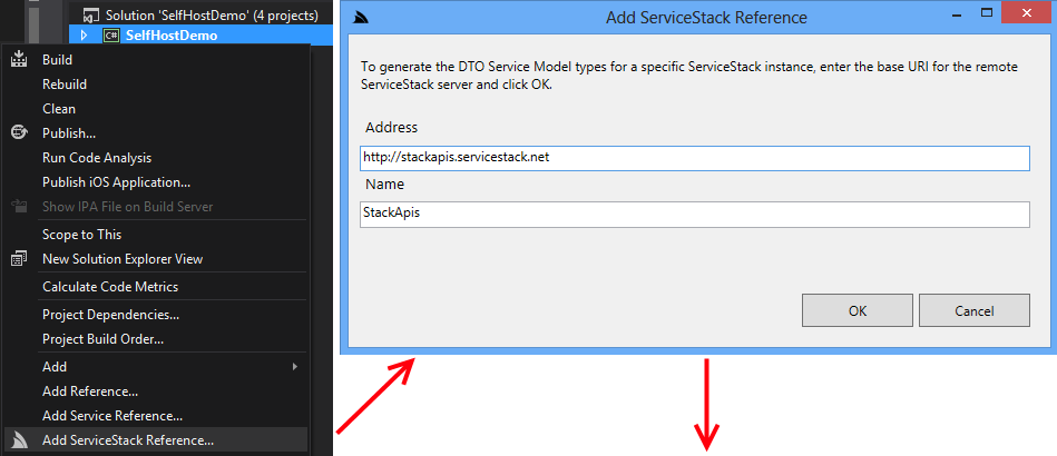 Add ServiceStack Reference
