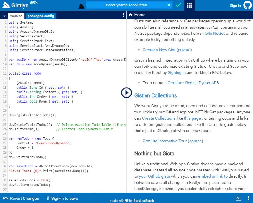 ServiceStack/PocoDynamo C#  NET Typed POCO Client for AWS