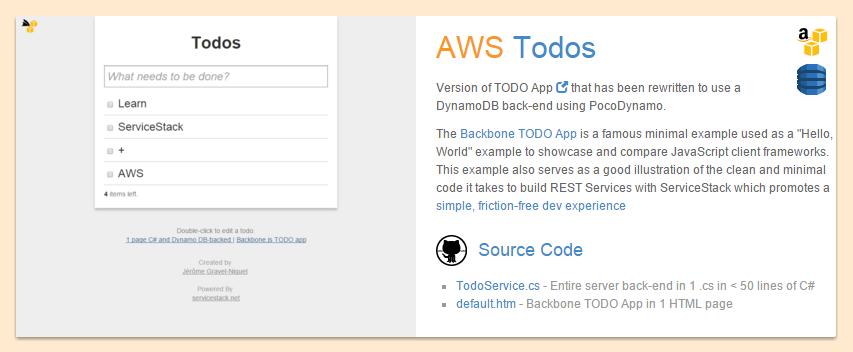 GitHub - ServiceStack/PocoDynamo: C#  NET Typed POCO Client for AWS