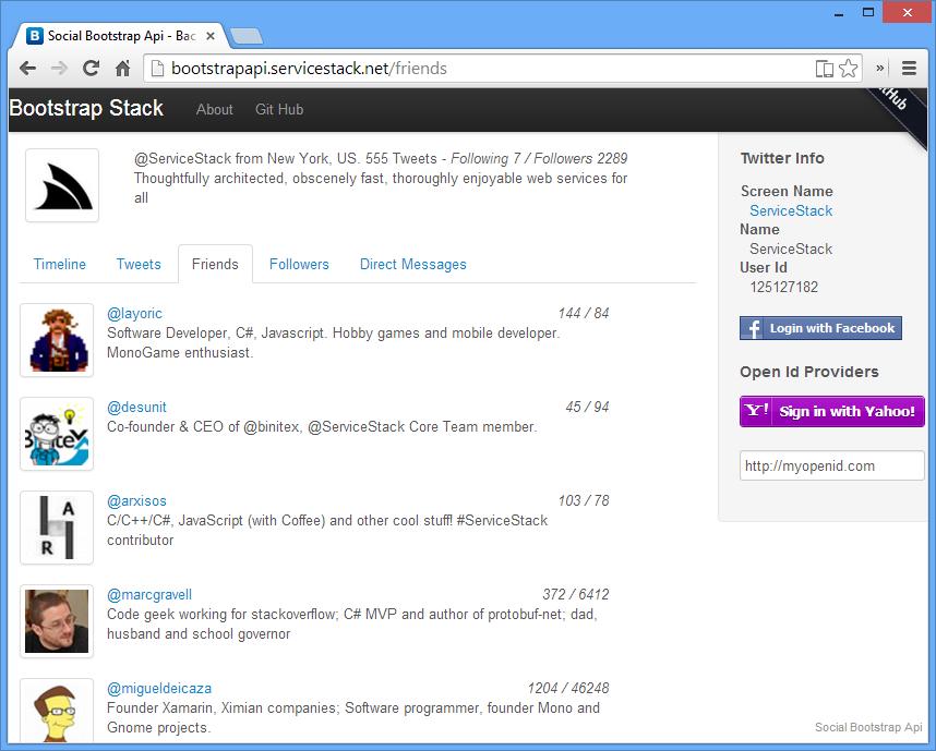GitHub - ServiceStackApps/SocialBootstrapApi: Bootstrap C#/.NET ...
