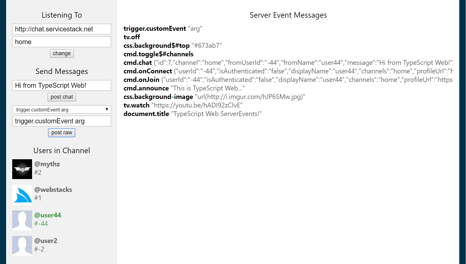 GitHub - ServiceStackApps/typescript-server-events: Showcase