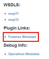 Postman Metadata link