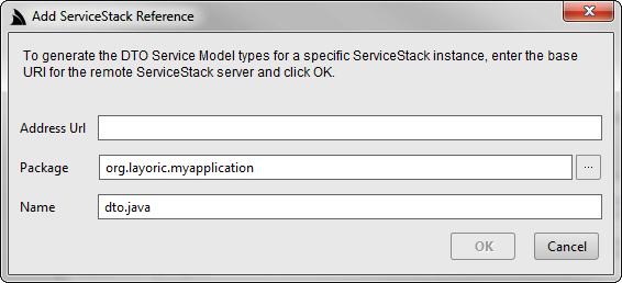 Java Add Servicestack Reference