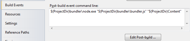 Add Bundler to VS.NET Post-Build event