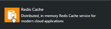 Redis instance menu item