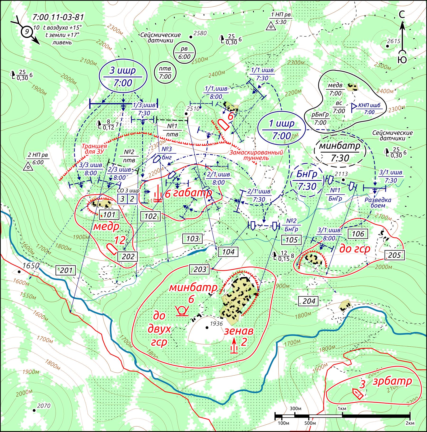 Операция Утконос, схема боя, наступление штурмовиков