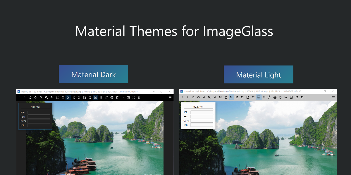 Material Themes for ImageGlass