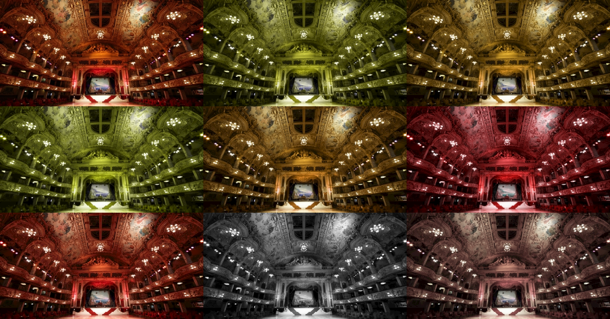 Image demonstrating the different types of colour blindness