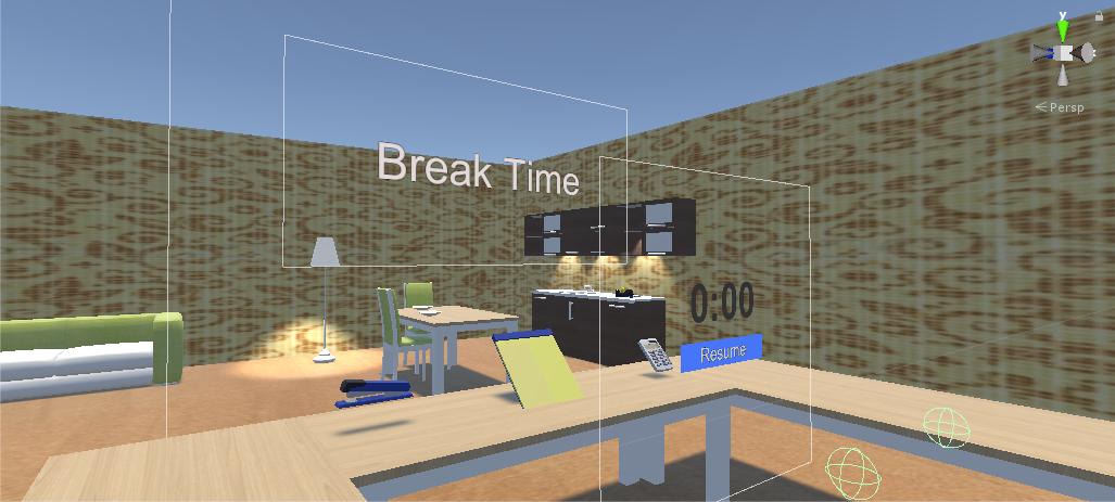 Screenshot of VR apartment