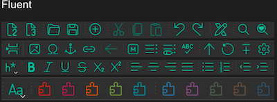 Fluent Icon Theme Dark