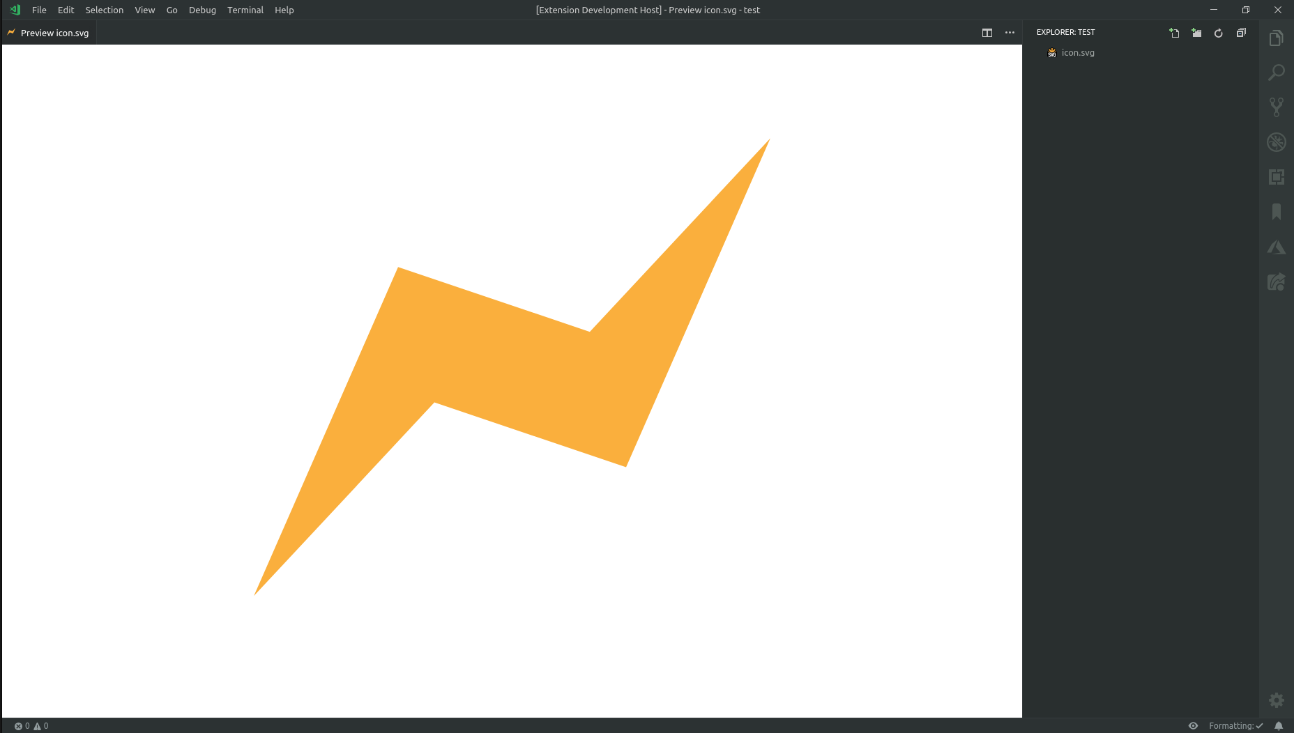 demo of the svg preview with white background