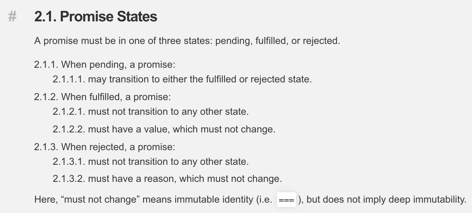 Promise States