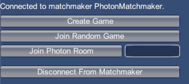 Matchmaker UI Matchmaking