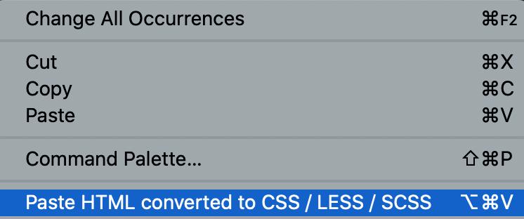 Context menu