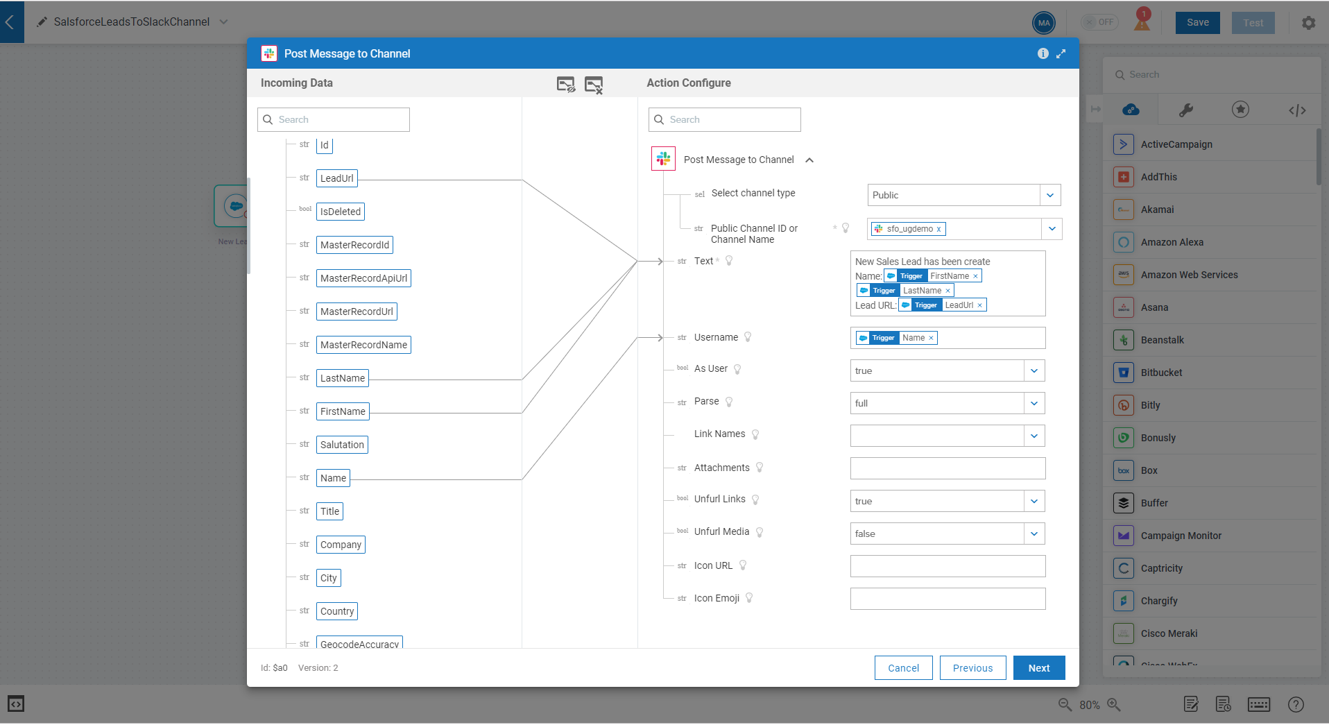 SalesforceLeadToSlackMapping