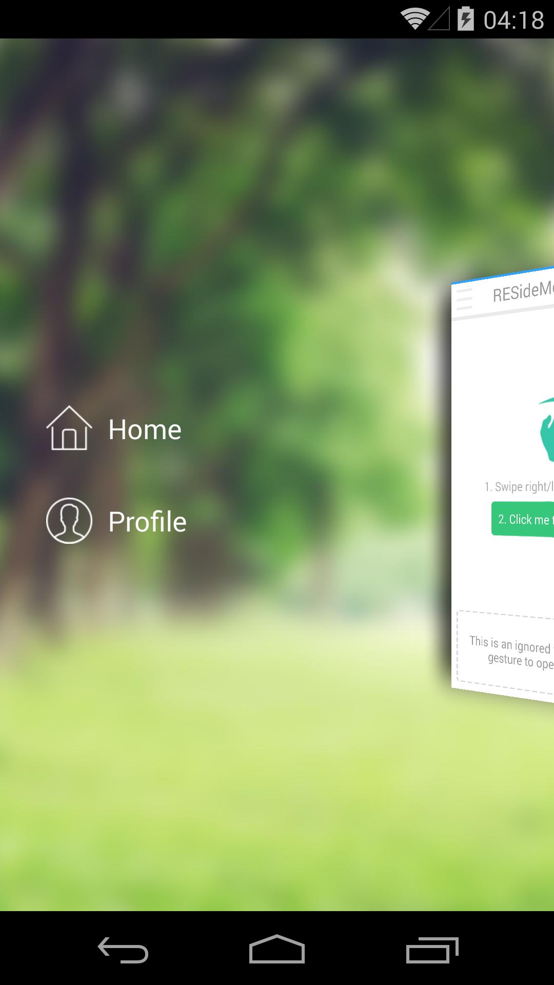 معرفی کتابخانه AndroidResideMenu برای ساخت منوی کشویی سه بعدی در اندروید_HamyarAndroid.com_3