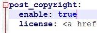 图1 老版本Next开启默认版权声明示意图