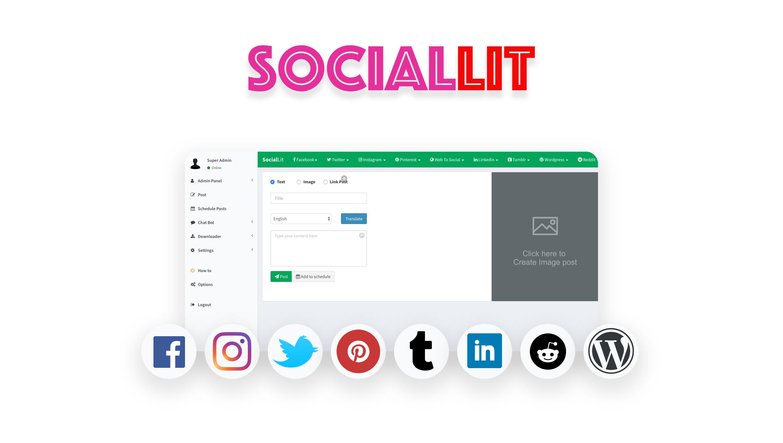 SocialLit - Social Marketing Suite - 1
