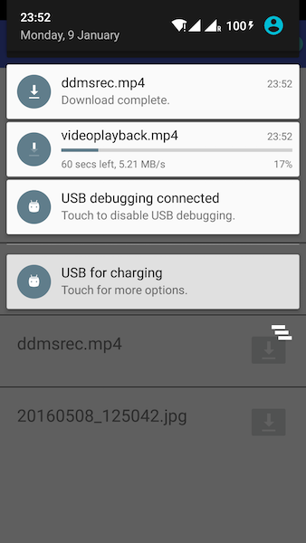 Android Download Manager Notification