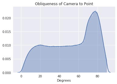 Distribution of point obliquenesses